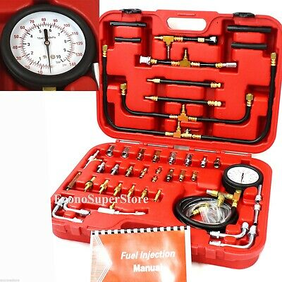Pro Deluxe Manometer Fuel Injection Pressure Tester Gauge Kit system 0-140 psi