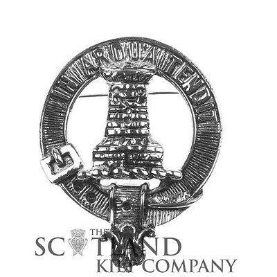 Scottish Made Malcolm/MacCallum Clan Crested Boxed Cap Badge by Art Pewter