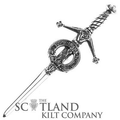 Mens Scottish Made Rattray Clan Crested Boxed Silver Kilt Pin by Art Pewter