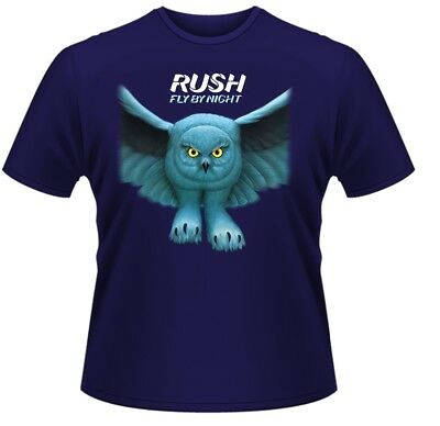Rush 'Fly By Night' T-Shirt (Blue) - NEW & OFFICIAL!