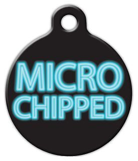 MICRO CHIPPED - Custom Personalized Pet ID Tag for Dog and Cat Collars