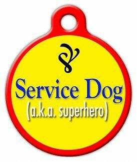 SERVICE DOG - Custom Personalized Pet ID Tag for Dog and Cat Collars