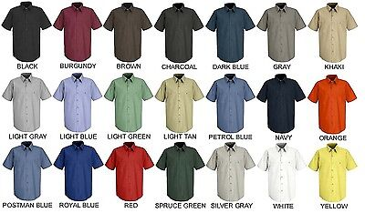 Lot of 12 Short Sleeve Uniform WORK SHIRTS U Choose Size & Color Red Kap SP24