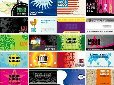 10,000 Full Color Business Cards Custom Made and Double Sided Plus Free Design!