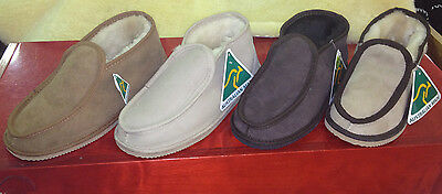 MEN'S SHEEPSKIN SLIPPERS, SIZE 5 - 12