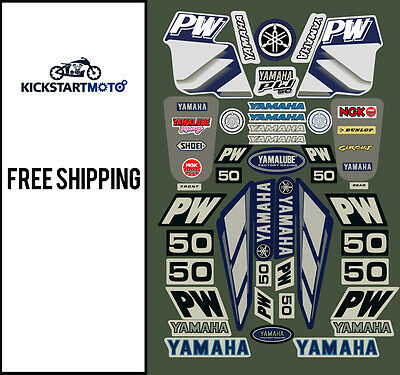 For Yamaha PW50 peewee decal sticker kit PW 50 Pee Wee All Years