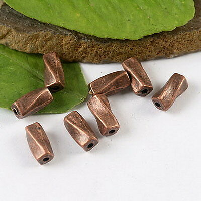 40pcs copper-tone curved spacer beads h1382