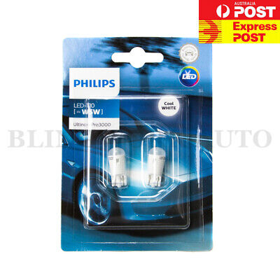 Philips T10 Vision Led W5W 6000K Xenon Hid White Rego Light Parker White Bulb