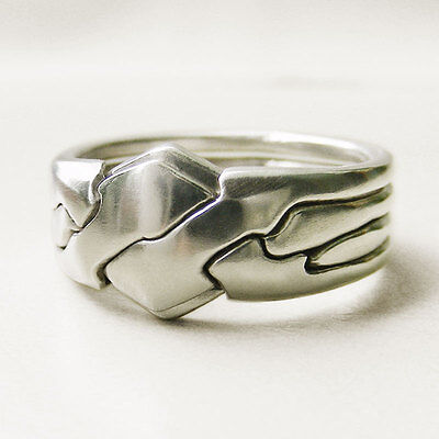 (PIGGYBACK) Unique Puzzle Rings - Sterling Silver - Any Size