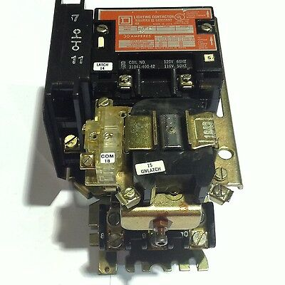 new square d lighting contactor 3p mechanically held 600v 30a 8903sm012 square d series a lighting contactor 30a 600v coil 120v 60hz