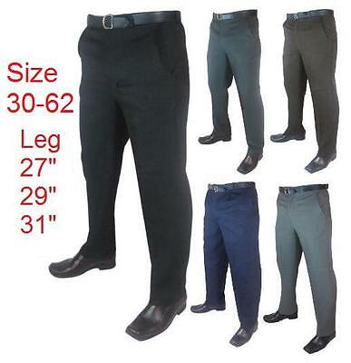 "Men's Big Size Casual/Formal Trousers/Pants Size 30""-66"" Leg Length 27"" 29"" 31"""