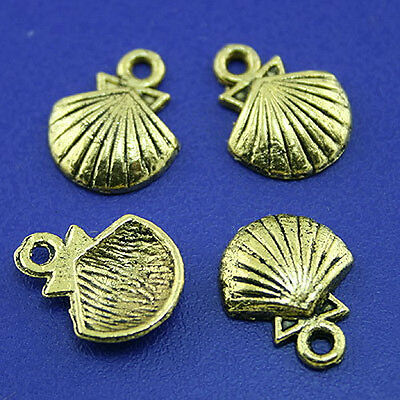 40pcs dark gold-tone curved line spacer beads h2212