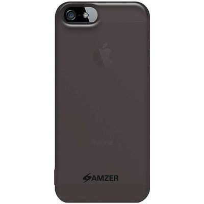 Amzer Soft Gel TPU Gloss Skin Case Cover For iPhone 5 -  Translucent Smoke Grey