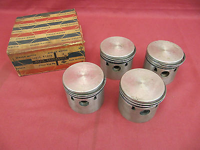 NOS Datsun 1200 A12 Engine Piston Set 0.75mm