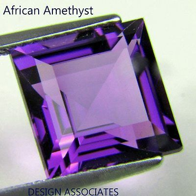 Natural African Amethyst Square Cut 11  Mm Aaa