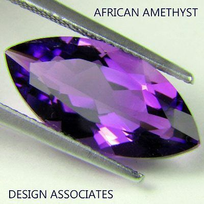 NATURAL AFRICAN AMETHYST MARQUISE CUT 12X6 MM