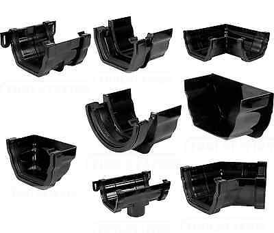 OGEE Black guttering gutter fittings. You choose what U want. FREEPOST
