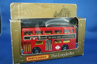 Matchbox Superkings  -  K15  Double Decker  -    Harrods    [NMIB]