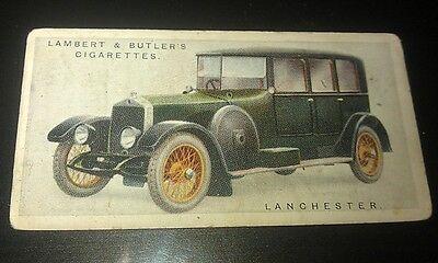 1922 LANCHESTER 40 Lambert & Butler UK Cigarette Card