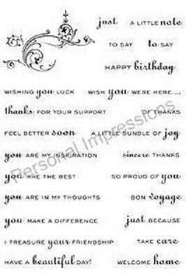 Personal Impressions ART STAMPS A6 Clear Stamps MIX & MATCH PICSA6070 Birthday