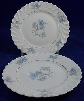 Haviland BERGERE Gold Verge 2 Bread and Butter Plates GREAT CONDITION
