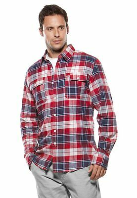 Men's Boys Oakley Greaser Woven L/S Flannel Shirt Grey Blue Black Small Medium