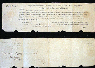 1810 American Law Case New York Manuscript & Printed Document