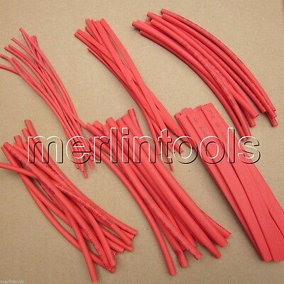"60pcs 6"" Wire Wrap Assortment Set Red Heat Shrinkable Shrink Tube Sleeves A"