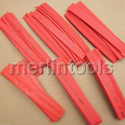 "60pcs 6"" Wire Wrap Assortment Set Red Heat Shrinkable Shrink Tube Sleeves B"