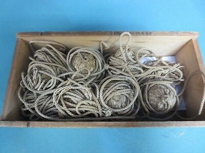 RARE-Victorian Beautiful Vintage Blind Pull Hardware in Old Optometrist Box