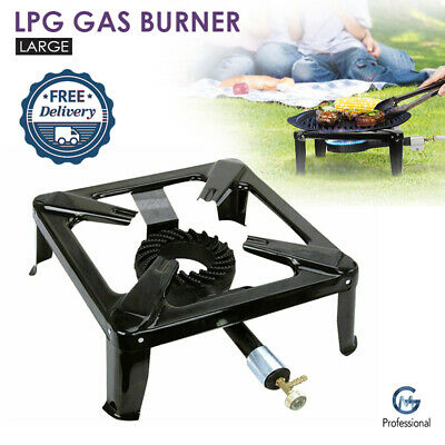 Large Cast Iron Gas LPG Burner Cooker Boiling Ring Restaurant Catering Camping