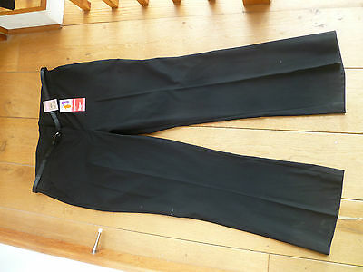 Marks And Spencers Black Belted Bootcut Stormwear School Trousers 11121314151629