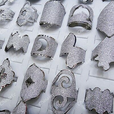 Wholesale jewelry lots 30pcs Mix style silver P Fashion Rings Free Shipping