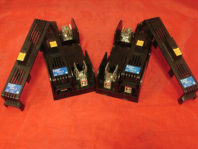 Gould Shawmut 60307R 600V 30A Fuse Block Holder With Covers (Lot Of 2)  **xlnt**