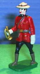 TOY SOLDIERS METAL RCMP ROYAL CANADIAN POLICE OFFICER 54MM