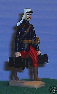 TOY SOLDIERS METAL FRENCH LEGIONNAIRE OFFICER WITH AMMO CASES 54MM
