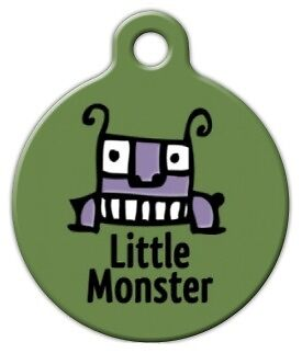 LITTLE MONSTER - Custom Personalized Pet ID Tag for Dog and Cat Collars