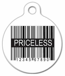 PRICELESS UPC - Custom Personalized Pet ID Tag for Dog and Cat Collars