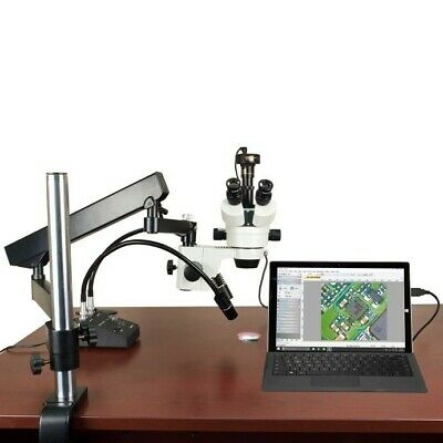 7-45X Stereo Microscope+Articulating Arm Stand+6W LED Light+3.0MP Digital Camera
