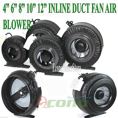 """4"""" 6"""" 8"""" 10"""" 12"""" Inline Exhaust Duct Fan Air Cooling Blower Hydroponic"""