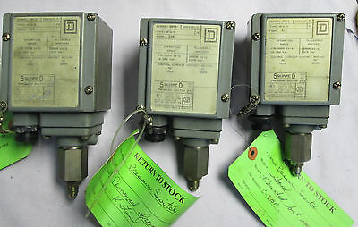 Square D GFW-3 Pressure Switch Series C Class 9012 170-5600psig 12-385 bar Used