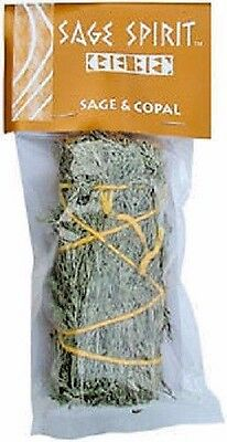 """Sage & Copal Smudge Stick: 5 """" (House Cleansing Remove Negative Energy)"""