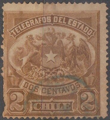 (R633) 1890's-1900 Chile 4 telegraph stamps 2c-20c