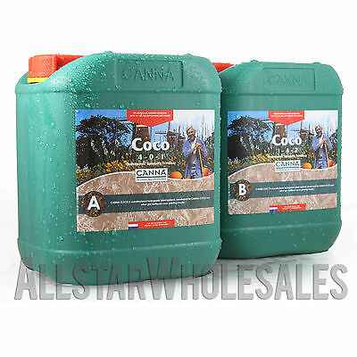 Canna Coco A+B 5 Liters 2-Part Hydroponics Base Nutrients Veg Flower Bloom 5L