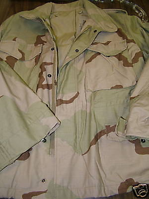 US ARMY G.I. DESERT CAMO M-65 FIELD JACKET COLD WEATHER COAT SMALL XSHORT