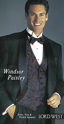 Boy Windsor Paisley Backless Vest and Tie by Lord West (polyester)