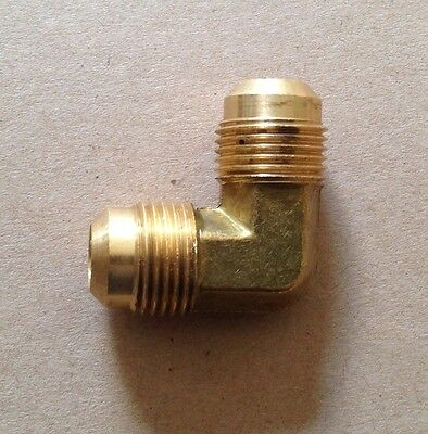 3/8 Male Flare X 3/8 Male Flare Elbow Rv Fitting Heavy Brass