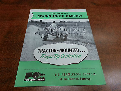 Harry Ferguson Tractor SPRING TOOTH HARROW sales brochure ORIGINAL 1950