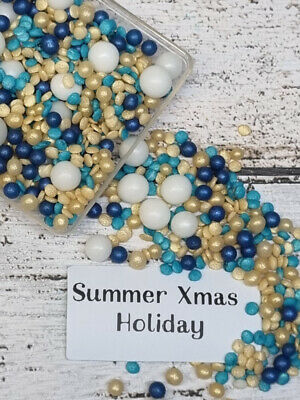 Edible Xmas Tree Coloured Sprinkles Blend For Cake Cookies Dessert Cup Cake Pops