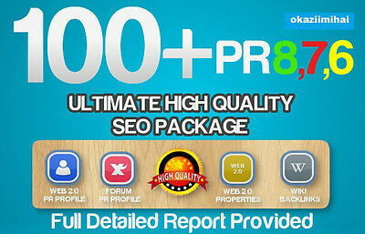 100 Real High Pr Quality BACKLINKS PR8-PR1, Authority sites,Forum,Profile. SEO